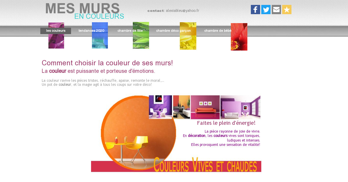 quelles couleurs choisir sur mes murs simulation personnalis e. Black Bedroom Furniture Sets. Home Design Ideas